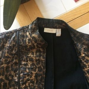 Chico's size 1 animal print jacket